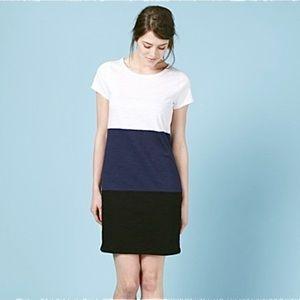 Boden Color Block Slub T-Shirt Dress